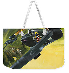 Spitfire And Doodle Bug Weekender Tote Bag by Wilf Hardy