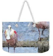 Spoonbills Hanging Out Weekender Tote Bag by Betty LaRue