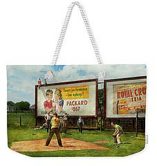 Sport - Baseball - America's Past Time 1943 Weekender Tote Bag by Mike Savad