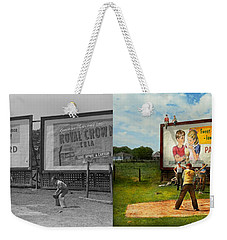 Sport - Baseball - America's Past Time 1943 - Side By Side Weekender Tote Bag by Mike Savad