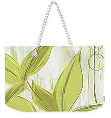 Spring Shades - Muted Green Art Weekender Tote Bag by Lourry Legarde