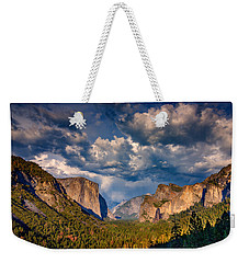 Spring Storm Over Yosemite Weekender Tote Bag by Rick Berk