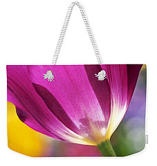 Spring Tulip - Square Weekender Tote Bag by Rona Black