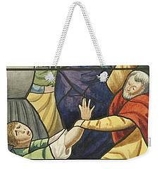 Stained Glass In St Mark's  The Taking Of Christ  Weekender Tote Bag by Joseph Manning
