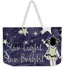 Star Light Star Bright Chalk Board Nursery Rhyme Weekender Tote Bag by Mindy Sommers