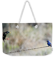 Starling Attack Weekender Tote Bag by Mike Dawson