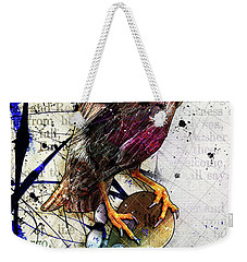 Starling On A Strat Weekender Tote Bag by Gary Bodnar