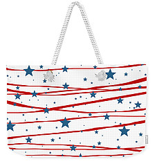 Stars And Stripes Weekender Tote Bag by Marianna Mills