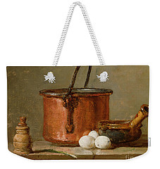 Still Life Weekender Tote Bag by Jean-Baptiste Simeon Chardin