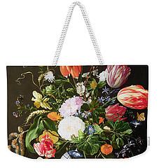 Still Life Of Flowers Weekender Tote Bag by Jan Davidsz de Heem
