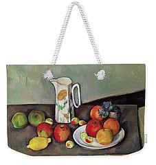 Still Life With Milkjug And Fruit Weekender Tote Bag by Paul Cezanne