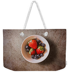 Strawberries And Blueberries Weekender Tote Bag by Scott Norris