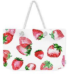 Strawberries Weekender Tote Bag by Varpu Kronholm