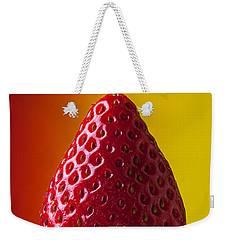 Strawberry On Fork Weekender Tote Bag by Garry Gay