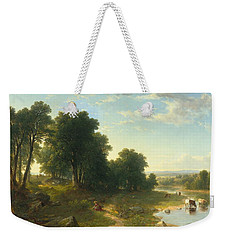 Strawberrying Weekender Tote Bag by Asher Brown Durand