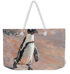 Stroll Along The Beach Weekender Tote Bag by David Stribbling