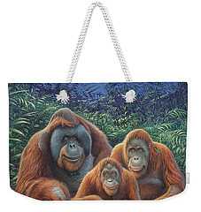 Sumatra Orangutans Weekender Tote Bag by Hans Droog