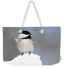 Summit - Black-capped Chickadee Weekender Tote Bag by Christina Rollo