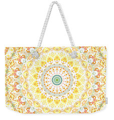 Sunflower Mandala- Abstract Art By Linda Woods Weekender Tote Bag by Linda Woods