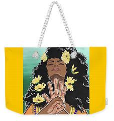 Sunflowers And Dashiki Weekender Tote Bag by Alisha Lewis