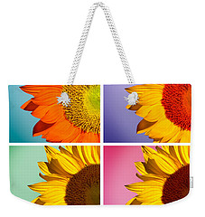 Sunflowers Collage Weekender Tote Bag by Mark Ashkenazi