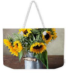 Sunflowers Weekender Tote Bag by Nailia Schwarz