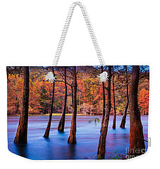 Sunset Cypresses Weekender Tote Bag by Inge Johnsson