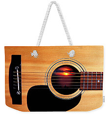Sunset In Guitar Weekender Tote Bag by Garry Gay