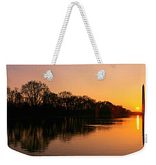 Sunset On The Washington Monument & Weekender Tote Bag by Panoramic Images