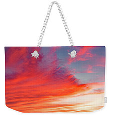 Weekender Tote Bag featuring the photograph Sunset Over A Lake, Pocono Mountains, Pennsylvania by A Gurmankin