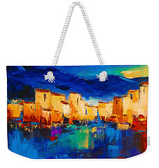 Sunset Over The Village Weekender Tote Bag by Elise Palmigiani