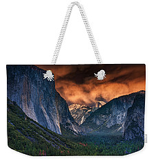 Sunset Skies Over Yosemite Valley Weekender Tote Bag by Rick Berk