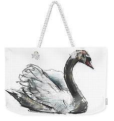 Swan Weekender Tote Bag by Mark Adlington