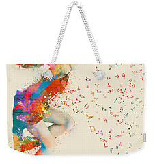 Sweet Jenny Bursting With Music Weekender Tote Bag by Nikki Smith