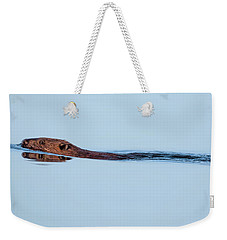 Swimming With The Beaver Weekender Tote Bag by Bill Wakeley