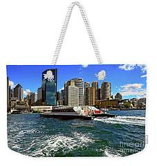 Sydney Skyline From Harbor By Kaye Menner Weekender Tote Bag by Kaye Menner