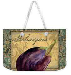 Tavolo, Italian Table, Eggplant Weekender Tote Bag by Mindy Sommers