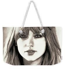 Taylor Swift - Glowing Beauty Weekender Tote Bag by Robert Radmore