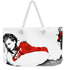 Taylor Swift Red 01a Weekender Tote Bag by Brian Reaves