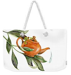 Tea Frog Weekender Tote Bag by Amy Kirkpatrick