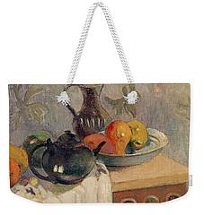 Teiera Brocca E Frutta Weekender Tote Bag by Paul Gauguin