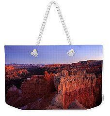 Temple Of The Setting Sun Weekender Tote Bag by Mike  Dawson