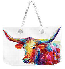 Texas Longhorn Art Weekender Tote Bag by Svetlana Novikova