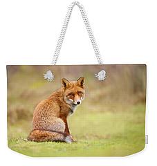 That Look - Red Fox Male Weekender Tote Bag by Roeselien Raimond