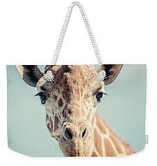 The Baby Giraffe Weekender Tote Bag by Lisa Russo