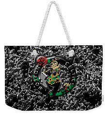 The Boston Celtics 1a Weekender Tote Bag by Brian Reaves