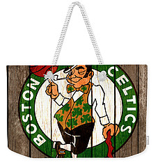 The Boston Celtics 2b Weekender Tote Bag by Brian Reaves