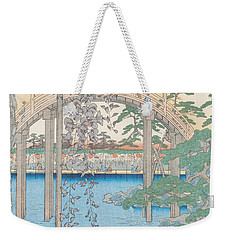 The Bridge With Wisteria Weekender Tote Bag by Hiroshige