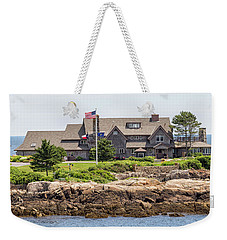 The Bush Compound Kennebunkport Maine Weekender Tote Bag by Brian MacLean