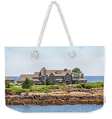 The Bush Family Compound On Walkers Point Weekender Tote Bag by Brian MacLean